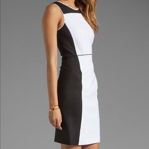 NWT! Theory Sleeveless Black/White Dress